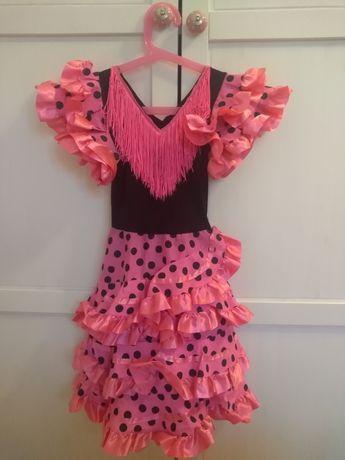 Sukienka karnawałowa w stylu latino /hiszpańskim r 110/116