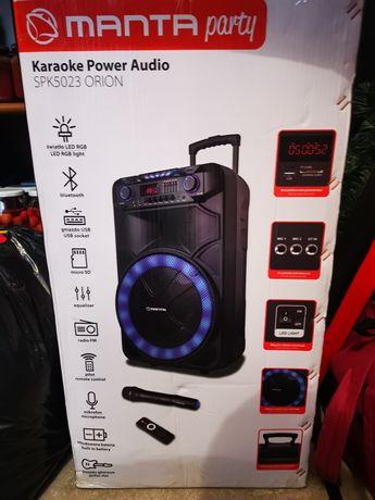Głośnik bezprzewodowy MANTA SPK5023 , bluetooth, radio, MIKROFON itp