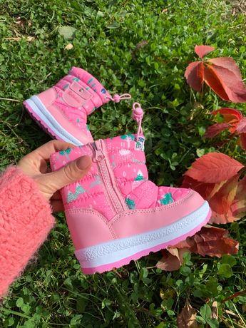 Дутики зима, детские зимние ботинки, 22-30
