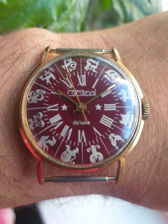 """Часы """"Cardinal de luxe"""" позолоченные Ракета СССР"""