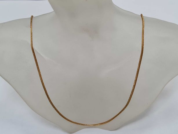 Wyjątkowy złoty łańcuszek damski/ 750/ 7.33 gram/ 55cm/ Lisi Ogon