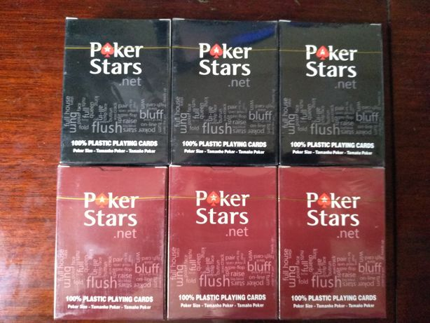 Игральные пластиковые карты Poker Stars
