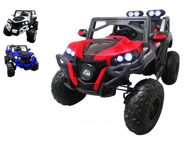 AUTO NA AKUMULATOR BUGGY RX9 4x4 Jeep Ekoskóra Pompowane Koła