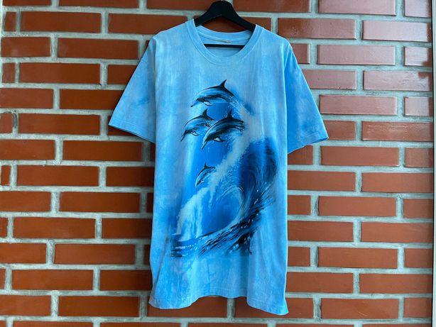 The Mountain оригинал винтаж мужская футболка мерч размер L XL Б У