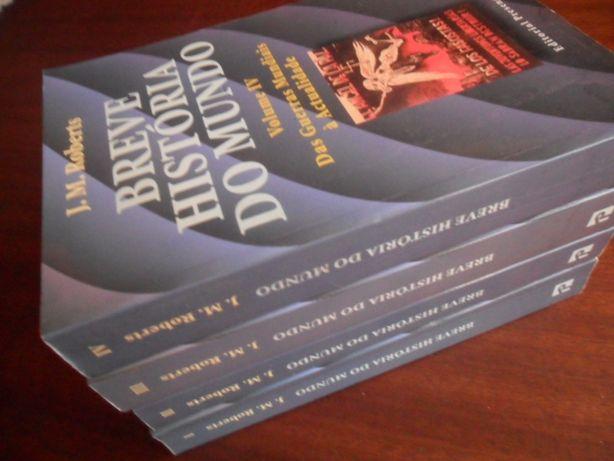 """""""Breve História do Mundo"""" - 4 Volumes de J. M. Roberts"""