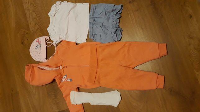 Paka zestaw ubranka dla dziewczynki 62, dres, body, pajace