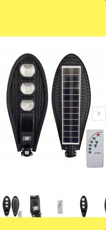 Lampa uliczna Solarna czujnik ruchu + Pilot 50W 100W 150W Halogen