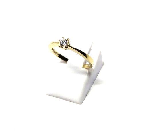 (M) Nowy złoty pierścionek z oczkiem 333 1,29 g r 11 Pudełko gratis
