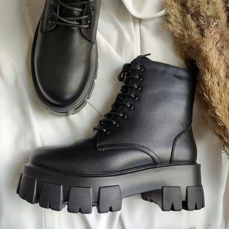 Натуральная кожа. Зимние женские ботинки. Женские кроссовки