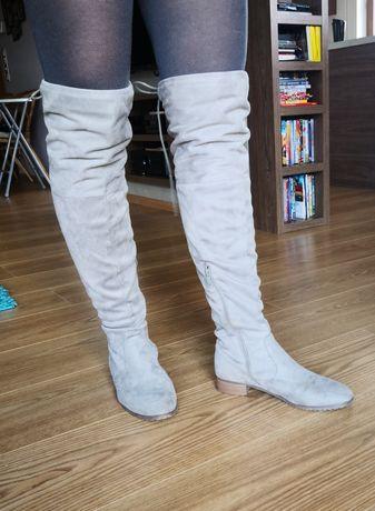 Kozaki, buty damskie r. 41 stan bardzo dobry