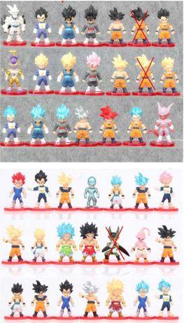 Lote 8 figuras / bonecos dragon ball PVC personalisado