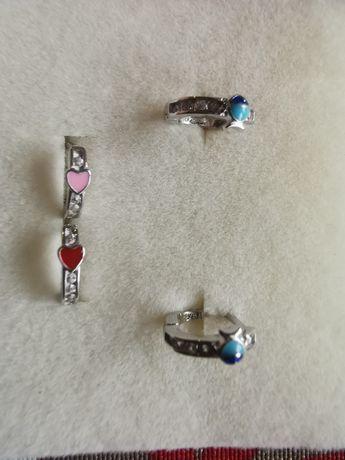 Piękne srebrne kolczyki dla dziewczynki 925
