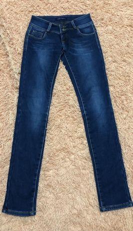 Женские тёплые штаны джинсы на флисе