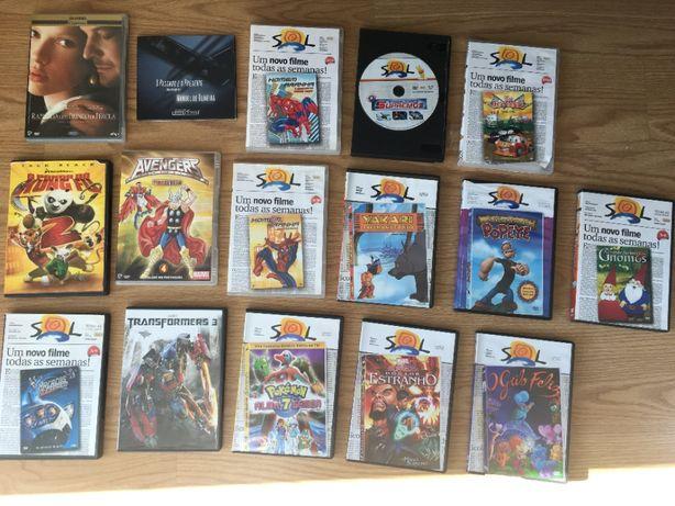 DVDs variados. Vendo DVDs de filmes de animação variados.
