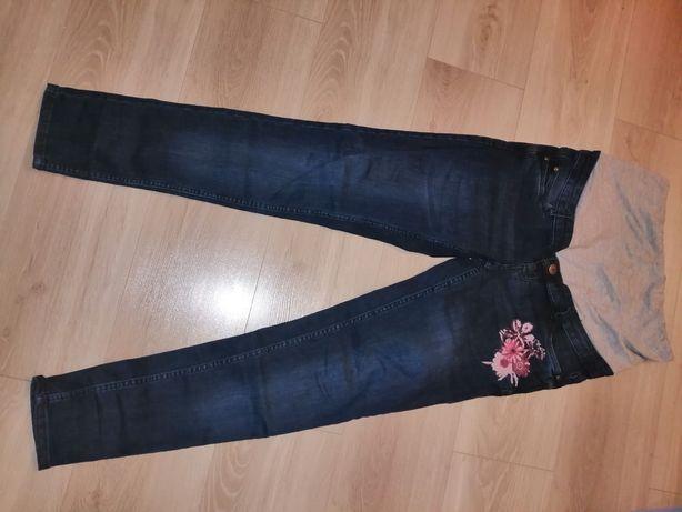 Spodnie jeansowe ciążowe rozmiar 38 i sukienka granatowa rozmiar S