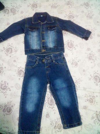 Дитячий джинсовий костюм