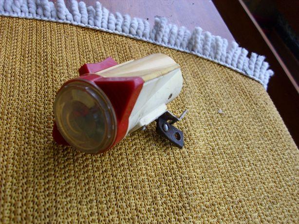 Lampka rowerowa rakieta na baterie z PRL-u