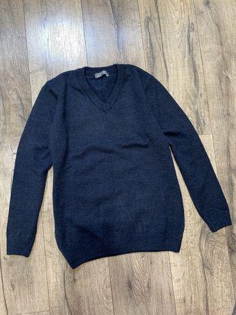 Теплый свитер 40% шерсть джемпер б/у 2-3 раза на 12-13 лет 158-164 см