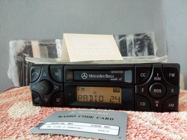 Radio Mercedes BECKER audio 10 + książka + karta + naklejki - 124 w201