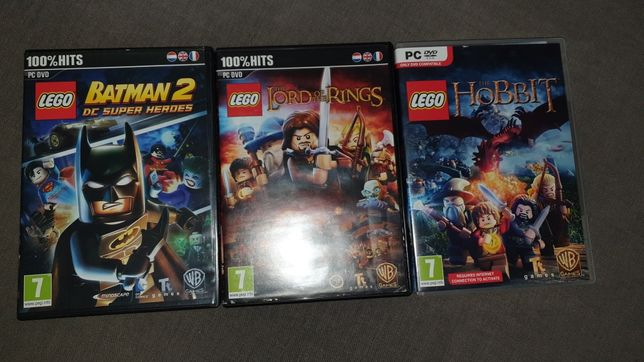 Gry PC DVD lego lord of the rings, batman 2, hobbit