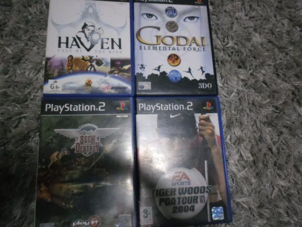 Zestaw gier na Playstation 2.