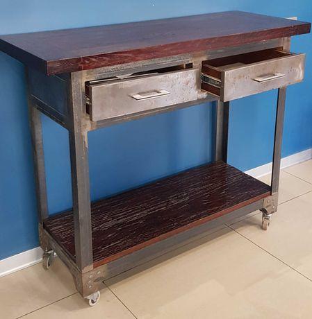 Стол барбера в барбершоп в стиле лофт дуб/металл