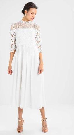 Sukienka ślubna balowa krótka biel