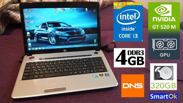Игровой DNS A15HE Core™ i3-2330M RAM 4 GB HDD 320 GB Nvidia 520m сост+