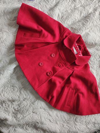Śliczny płaszczyk kurteczka narzutka dla dziewczynki 92cm Junior J