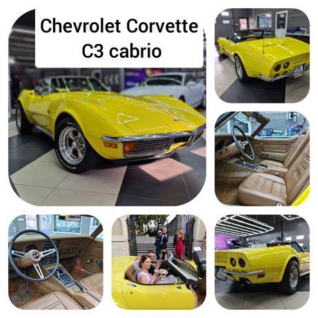 Chevrolet Corvette C3 cabrio na Wasze wesele