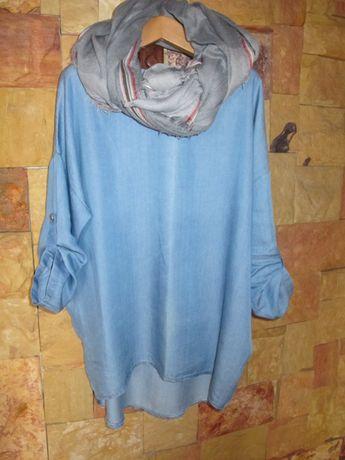 Jeansowa bluzka,tunika,sukienka r L