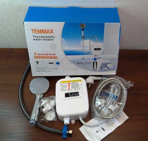 Електричний водонагрівач проточний RX-021 з душем змішувач бойлер