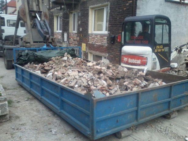 Transport wywrotka kontener na gruz, ziemie, wywóz gruzu ziemi Kraków