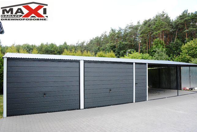 Garaz blaszany 6x6, 7x6, 7x7 8x6, 9x6 drewnopodobny, na wymiar