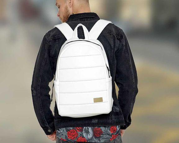 Недорого современный городской рюкзак белый Sambag Zard портфель