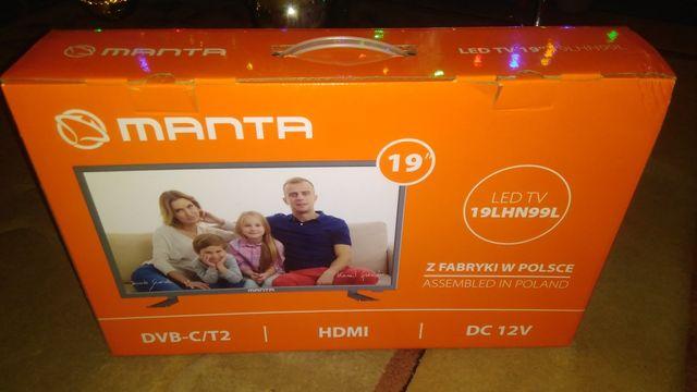 TV Manta DVB-T 24 całe 12V/230V Kamper Tir Przyczepa Gwarancja Gratis