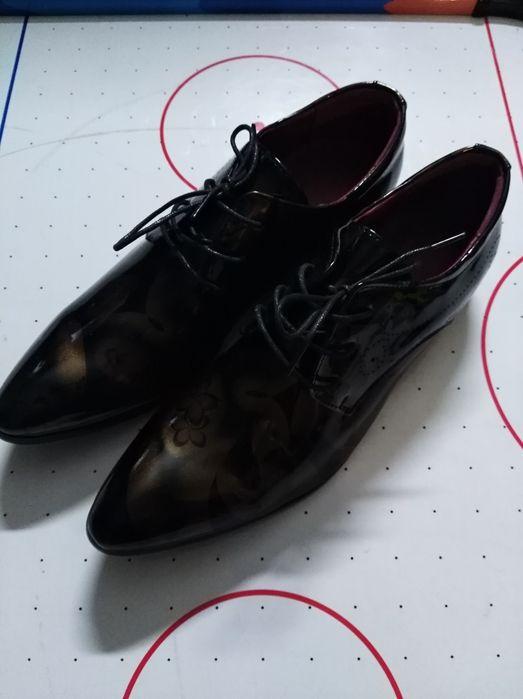 Pantofle skórzane rozm. 42 Berezówka - image 1