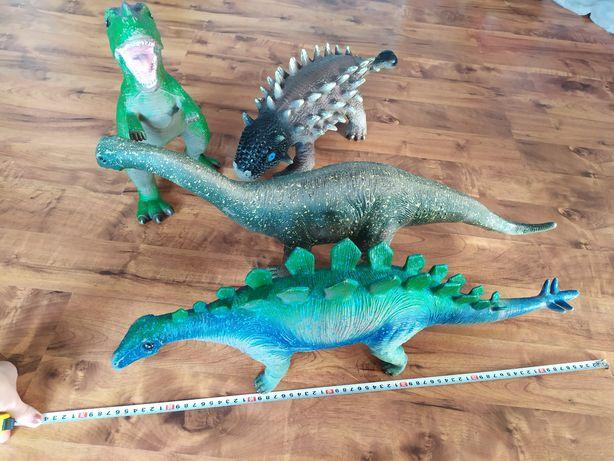 Zestaw dużych dinozaurów, silikonowe, dinozaur.