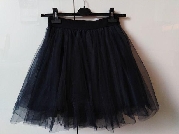 Granatowa tiulowa spódnica
