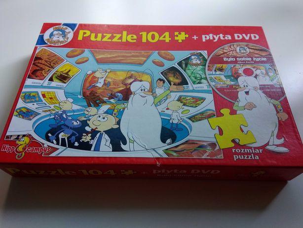 """Puzzle 104 + płyta DVD """"Było sobie życie"""""""