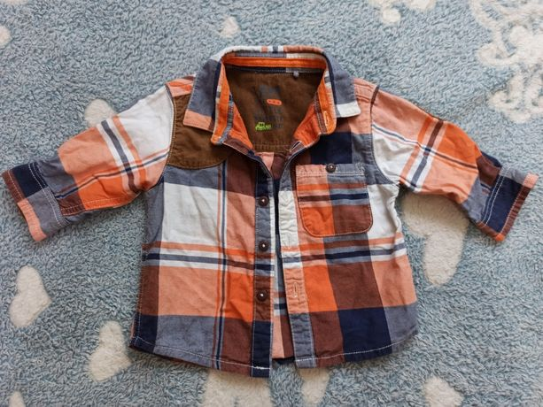 Рубашка на мальчика 3-6 мес