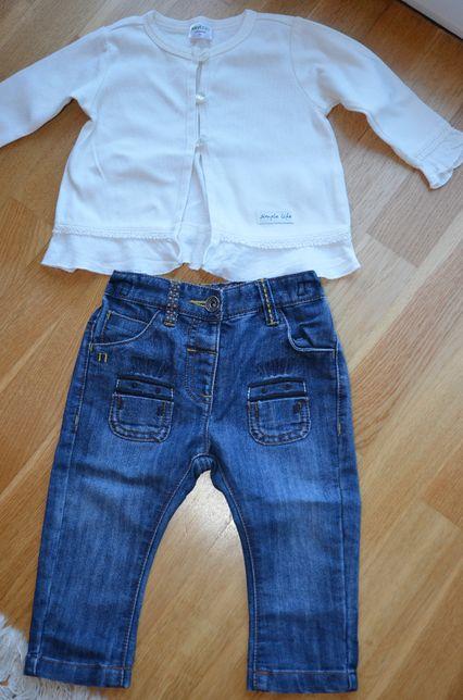 Spodnie jeansy next i bluzeczka, dziewczynka - zestaw!!!