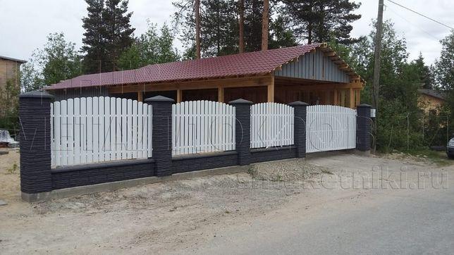 Забор, евроштакетник, штакетник металлический
