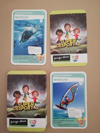 Cartas Pingo Doce (Super Desportos e Super Animais)