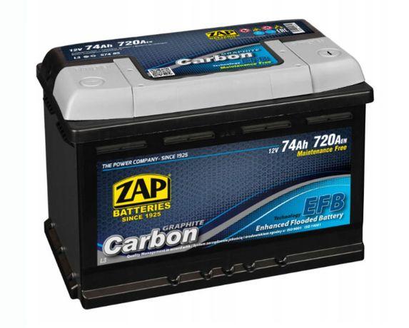 Akumulator ZAP Carbon EFB 75Ah 720A EN 12V Akumulatory START STOP