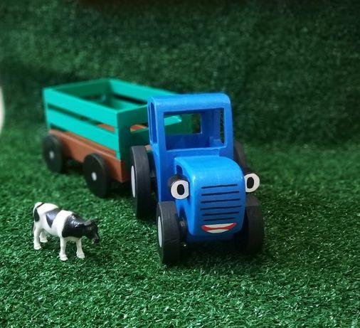 Синий трактор, игрушка,машинка