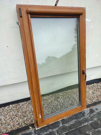 Okno 90x150 trzyszybowe PCV Drutex Złoty Dąb