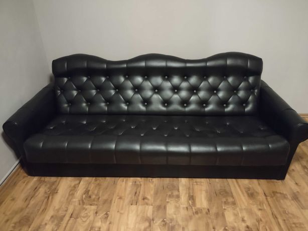 Sofa rozkladana skórzana