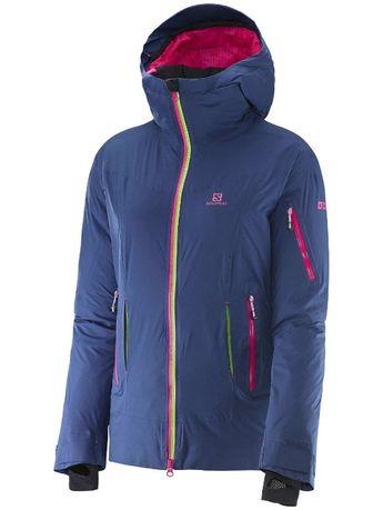 śliczna ciepła kurtka SALOMON puchowa XS, na puchu ,na narty ,