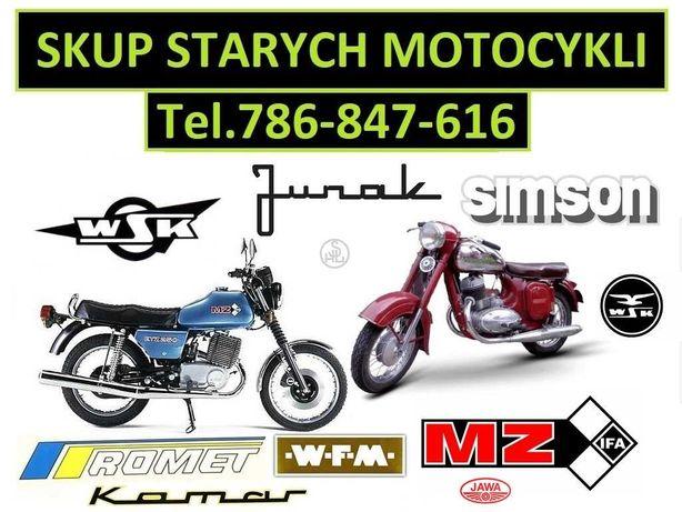 Skup Motocykli Zabytkowych -Ogar-Wfm-Jawa-Motorynka-Simson-Shl-Wsk-Mz